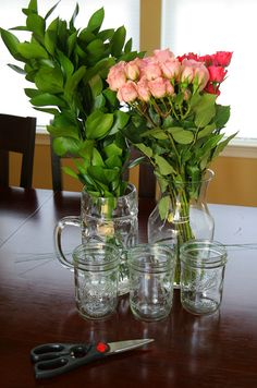 Easy Mason Jar Centerpieces