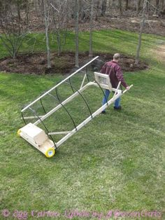 A chicken tractor is a portable enclosure used to move chickens around the yard. Our chicken tractor is not a housing unit, but some tractors can be built to house chickens. Ours is essentially a mobile playpen for use during the day.