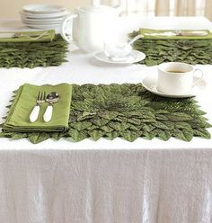 This Easter, top your table with these fresh Rose Leaf Place Mats. These handcrafted, festive accents will stay fresh and stylish through spring and summer, too!