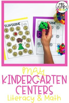 These fun kindergarten literacy centers include several spring and summer themes. Students can practice skills like subtraction and digraphs during literacy center rotations.