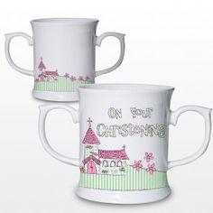 Pink Christening Church Loving Mug