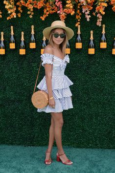 Julie Sarinana attends The Tenth Annual Veuve Clicquot Polo Classic at Liberty State Park on June 3, 2017 in Jersey City, New Jersey.