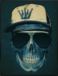 SKULL BLUE HAT » TOP UA