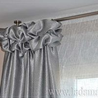 Confección de Cortinas Modernas. Modern curtain sewing Curtains And Draperies, Luxury Curtains, Modern Curtains, Window Drapes, Drapery Panels, Hanging Curtains, Window Coverings, Valance, Window Curtain Designs