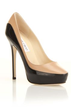 Jimmy Choo Sepia Pump In Nude And Black