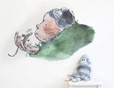 Transform your walls with this splendiferous sticker of Grandma ...