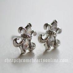 Cheap Chrome Hearts 925 Silver BS Fleur Earrings with Zircons [Chrome Hearts Earrings] - $136.00 : Cheap Chrome Hearts | Buy Chrome Hearts Online @ cheapchromeheartsonline.com
