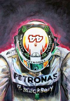 AMG Petronas Pilot: Lewis Hamilton by: kevinpaigeart.com