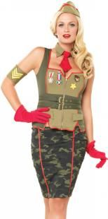 Army Girl Military Pinup Costume Adult Size