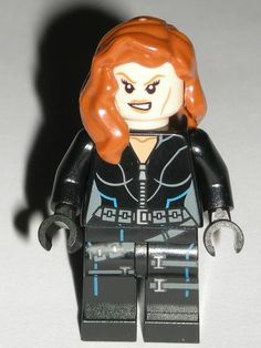 Lego Black Widow Super Heroes Minifigure Female Girl from Quinjet 6869 673419168472 | eBay $19.99