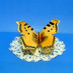 German WAGNER & APEL BERTRAM Porcelain Wonderful  BUTTERFLY Handpainted  Marked