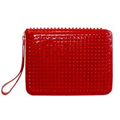 Christian Louboutin spiked red leather ipad case
