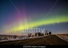 Calgary, Alberta, Canada. 1st March, 2015. #Auroraborealis #Northernlights usually occurs near the north pole, but can sometimes been seen as far south as #Calgary © NisargMedia/Alamy Live News