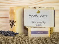 Features natural soaps, bath and skincare products created by hand. Lavender Soap, Natural Soaps, West Lake, Palm Oil, Retail Therapy, Calming, Essential Oils, Skincare, Delicate