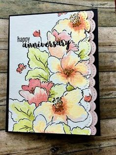 For this card I used the Altenew Hibiscus Bouquet Stamp Set. I must admit that I really have to practice with these stamp sets when I get a. Cricut Cards, Stampin Up Cards, Hibiscus Bouquet, Altenew Cards, Watercolor Cards, Halloween Cards, Paper Cards, Flower Cards, Greeting Cards Handmade