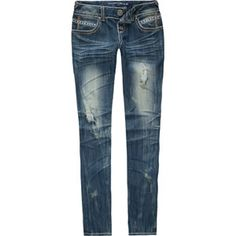 ALMOST FAMOUS Stud Pocket Womens Skinny Jeans