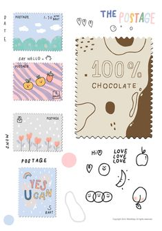 Not allow commercials use* Doodle Drawings, Cute Drawings, Doodle Art, Journal Stickers, Planner Stickers, Printable Stickers, Cute Stickers, Memo Notepad, Tumblr Stickers