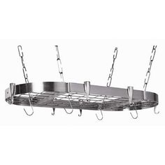 Concept Housewares Stainless Steel Oval Pot Rack