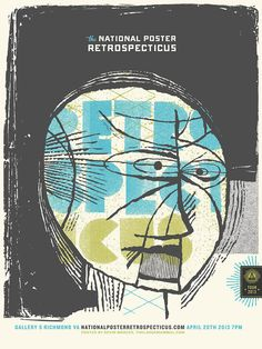 National Poster Retrospecticus screenprinted poster by largemammal, $25.00