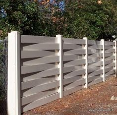 Unique privacy fence