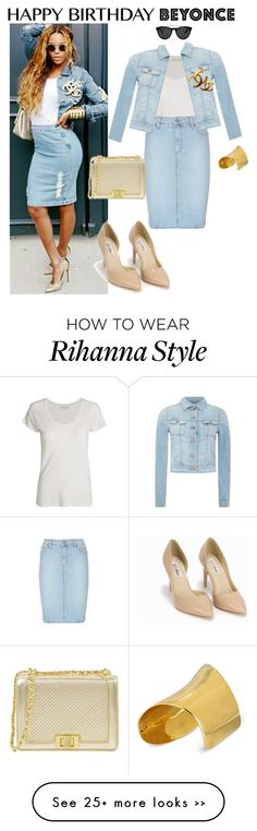 """Happy Birthday, Beyonce!"" by themodernduchess on Polyvore featuring Chanel, American Vintage, Paige Denim, Lee, Maiyet, Nly Shoes, Smoke & Mirrors and happybirthdaybeyonce"