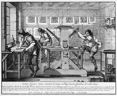 041► Taller de la imprenta - Abraham Bosse, 1642.
