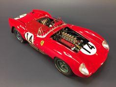 1/24th Scale - Ferrari 250 Testa Rossa TR58 - Customized (Hasagawa Kit) (1) Lamborghini Sesto, Scale Models, Diecast, Ferrari, Motorcycle, Trucks, Kit, Cars, Vehicles