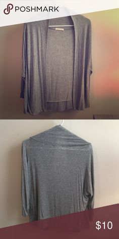 Light grey cardigan Lightweight grey cardigan perfect for this time of year. Worn once with no flaws-like new. Very comfortable and versatile. Sweaters Cardigans