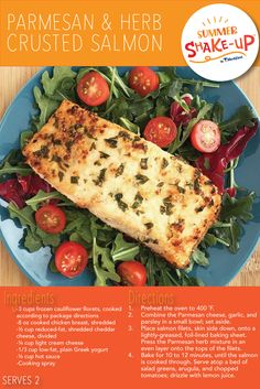 Looking for an option for your lean and green meal on the Summer Shake Up™ plan? Try this Medifast approved Parmesan & Herb Crusted Salmon!