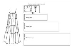 pattern of the skirt in the floor Corset Sewing Pattern, Sewing Patterns Free, Clothing Patterns, Clothes Crafts, Sewing Clothes, Baby Fall Fashion, Skirt Pattern Free, Stitching Dresses, Dress Making Patterns