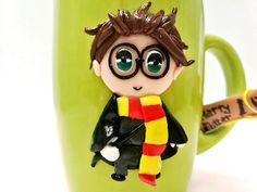 "Handmade by Do : Polymer clay mug hand made, ""Harry Potter""/ Cană c."