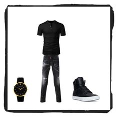 """""""Bez naslova #22"""" by mustafa-saric ❤ liked on Polyvore featuring Dsquared2, Supra, Larsson & Jennings, men's fashion and menswear"""