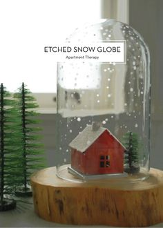 15 DIY HOLIDAY GIFTS – Etched Snow Globe