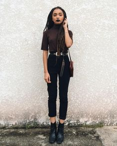 BGKI - the website to view fashionable & stylish black girls Edgy Outfits, Cute Outfits, Fashion Outfits, Looks Style, My Style, Black Girls, Black Jeans, Street Style, Stylish