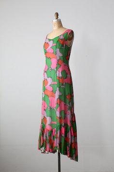 1960s mod maxi dress by 86Vintage86 on Etsy