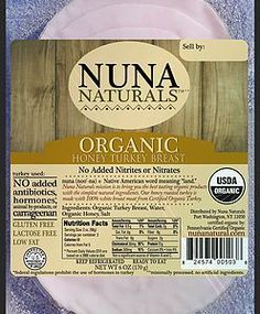Nuna Naturals Honey Turkey Breast - Nuna Naturals mission is to bring you the best tasting 100% organic products with the simplest natural ingredients. At the heart of our core values is a commitment to caring for the whole scope of the food chain which e