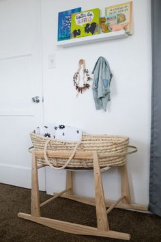 Boho bassinet and st