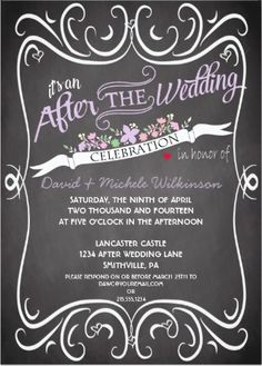 """""""At-Home"""" Reception Invitations for the celebration after your destination wedding"""