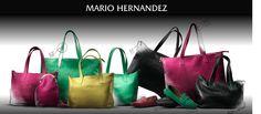 Bolsos de piel de la marca colombiana Mario Hernández.  Handbags from Mario Hernández a luxury colombian firm.