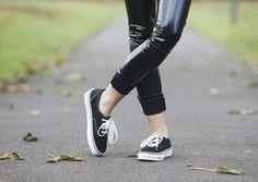 COCOCHIC   cocochic.creatorsofdesire.com #vans #shoes #fashion #ootd #streetstyle #black #leather