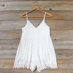 Fortune Teller Romper in White: Featured Product Image