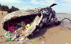 Giant 'Dead Whale' Is Haunting Reminder of Massive Plastic Pollution Problem. Greenpeace Philippines gives us an incredible look at the harms plastic has on marine life in this giant art exhibit Ocean Pollution, Plastic Pollution, Save Our Earth, Save The Planet, Plastic Problems, Environmental Issues, Global Warming, Marine Life, Mother Earth