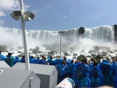 Niagara Falls in the boat MAID OF THE MIST since 1846