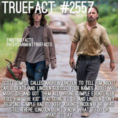 Love Andrew Lincoln for being so shook on Carl's death news. The walking dead facts TWD Walking Dead Coral, Walking Dead Facts, Walking Dead Zombies, Walking Dead Season, Fear The Walking Dead, Walking Dead Quotes, Twd Memes, Memes Humor, Friday Humor
