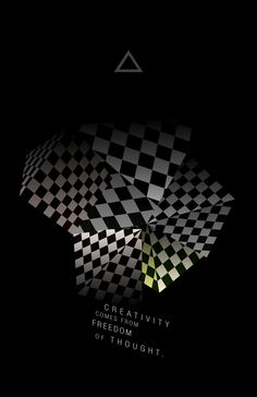 Creativity comes from freedom of thought by Ramiro Baldivieso, via Behance