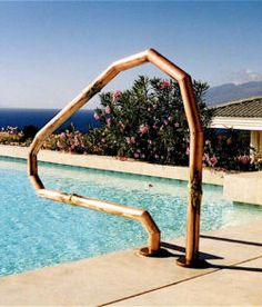 Stunning Bronze Custom Pool Handrail Pool Updating In