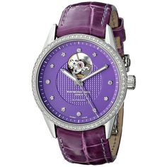 Raymond Weil Freelancer Automatic Ladies Watch (81.325 RUB) ❤ liked on Polyvore featuring jewelry, watches, purple jewelry, dial watches, stainless steel jewelry, stainless steel jewellery and crown jewelry