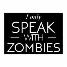 Teeburon I only speak with Zombies Pack of 4 Stickers *** Check out the image by visiting the link.Note:It is affiliate link to Amazon.