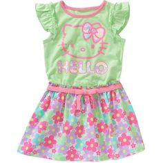 Hello Kitty Baby Toddler Girl Tee Shirt Dress