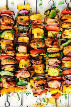 Grilled Hawaiian Teriyaki Chicken Skewers … – The Best Chicken Recipes is Here Teriyaki Chicken Skewers, Teriyaki Sauce, Chicken Kabob Marinade, Hawaiian Chicken Kabobs, Grilled Chicken Kabobs, Chicken Kabob Recipes, Shrimp Kabobs, Skewer Recipes, Grilled Chicken With Pineapple